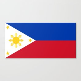 Philippines national flag Canvas Print