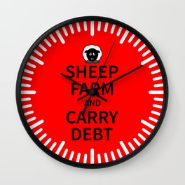 Sheep Keep Calm Wall Clock