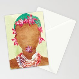 Lilium woman Stationery Cards