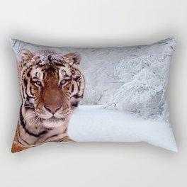 Tiger and Snow Rectangular Pillow