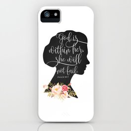 God with Within Her iPhone Case