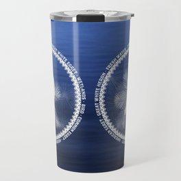 Great Egret Wreath Travel Mug