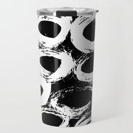Minimal [4]: a simple, black and white pattern by Alyssa Hamilton Art Travel Mug