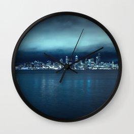 Seattle Skyline from Alki Beach Wall Clock