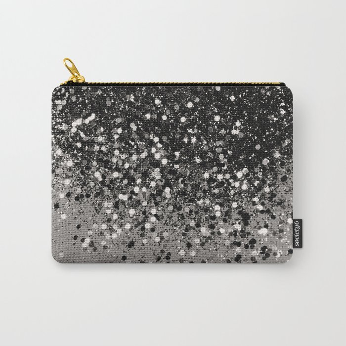 Silver Gray Glitter #1 #shiny #decor #art #society6 Carry-All Pouch