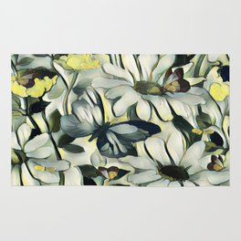 Spring Delight - Flowers And Butterflies Rug