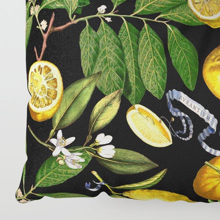 LEMON TREE Black Floor Pillow