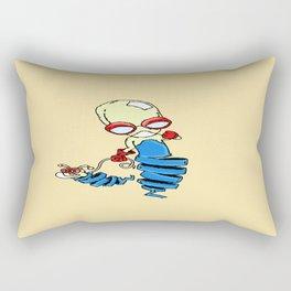 Alien walk Rectangular Pillow