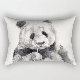 Panda black white Rectangular Pillow