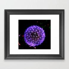 Purple Spark Framed Art Print
