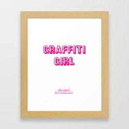 Graffiti Girl (the novel) Framed Art Print