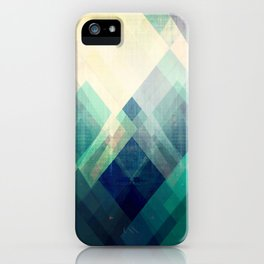 Mountains print, Abstract print, geometric wall art, abstract mountain, minimalist art, modern art, iPhone Case