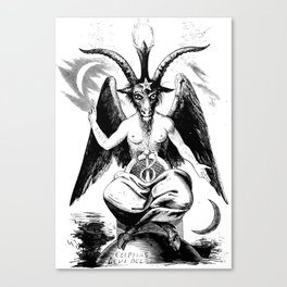 Vintage Black Magic Baphomet Canvas Print