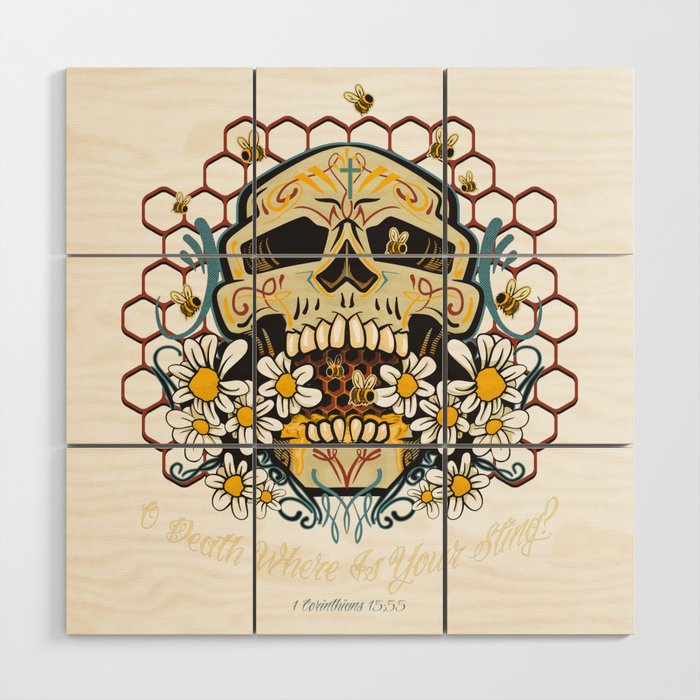 O death where is your sting? Wood Wall Art