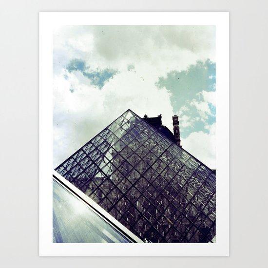 Louvre Pyramid I Art Print