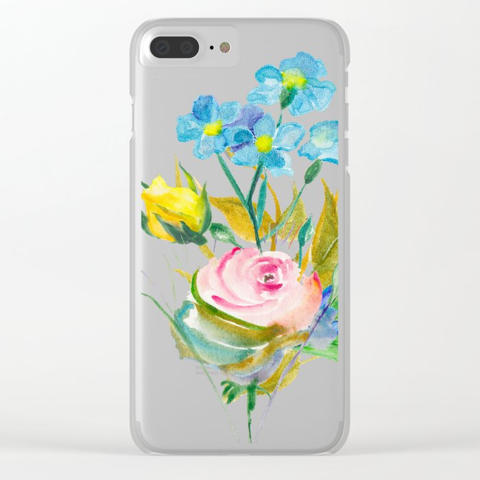 Beautiful Watercolor of Bouquet of Flowers Clear iPhone Case