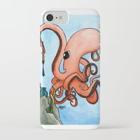 writer iPhone & iPod Cases featuring Octopus Writer by Zekis Art