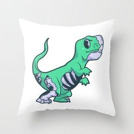 Trex extinct dinosaur skeleton Throw Pillow