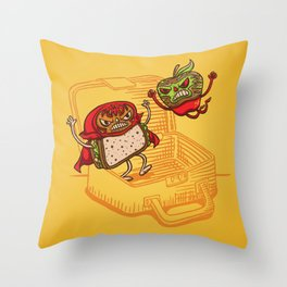 Lunchadores Throw Pillow