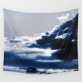 arctic blue landscape Wall Tapestry