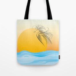 Flying bird - calligraphy Tote Bag