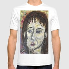 A LATENT SMIRK Mens Fitted Tee White SMALL