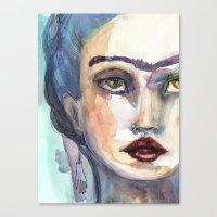 jane davenport Canvas Prints featuring Frida Forever by Jane Davenport by Jane Davenport