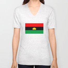 Biafra people ethnic flag nigeria Unisex V-Neck