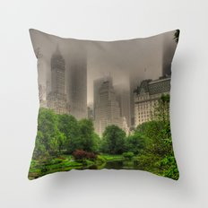 New York Central Park Throw Pillow