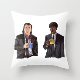 Pulp Fiction - Jimmy's Coffee Throw Pillow