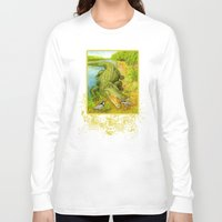 crocodile Long Sleeve T-shirts featuring Crocodile by Natalie Berman