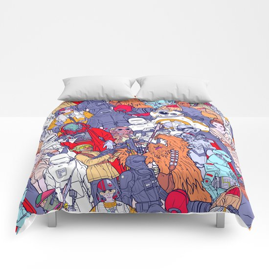 Space Toons in Color Comforters