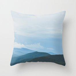 Blue Ridge Mountain Magick Digital Nature Landscape Photography Throw Pillow