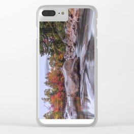 mountain stream Clear iPhone Case