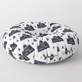 black and white Scandinavian Nursery Prints patterns Floor Pillow