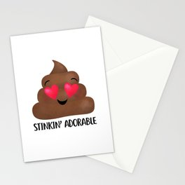Stinkin' Adorable - Poop Stationery Cards