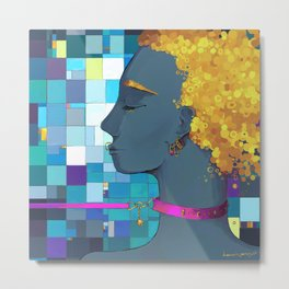 """""""I want, I want, black brave woman, on the day of victory"""" Metal Print"""