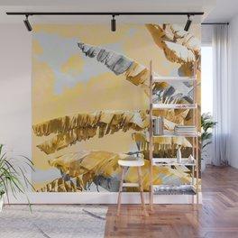 Golden Banana Leaves Wall Mural