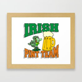 Irish Drinking Team Framed Art Print