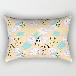 Blush pink yellow aqua black abstract geometrical pattern Rectangular Pillow