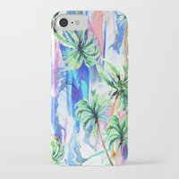 palm trees iPhone & iPod Cases featuring Palm trees by Nikkistrange