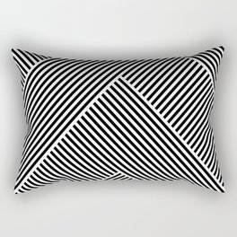 Black and White Abstract geometric pattern Rectangular Pillow