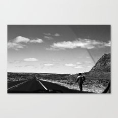 The Lone Wolf in BNW Canvas Print
