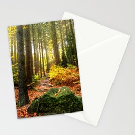 Path Through The Trees - Landscape Nature Photography Stationery Cards