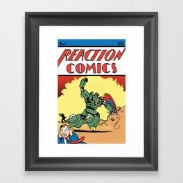 Reaction Comics Framed Art Print