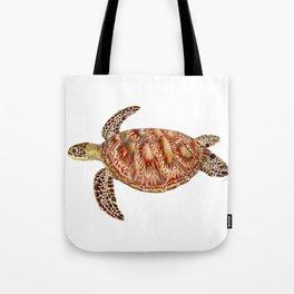 Green turtle Chelonia mydas Tote Bag