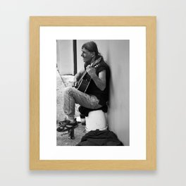 Homeless in St. Augustine Framed Art Print