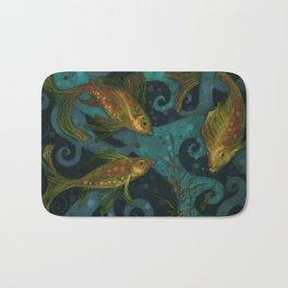 Golden Fishes Bath Mat