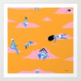 Bluejay Paradise Art Print