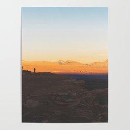Sunset over the Atacama Desert, Chile Poster